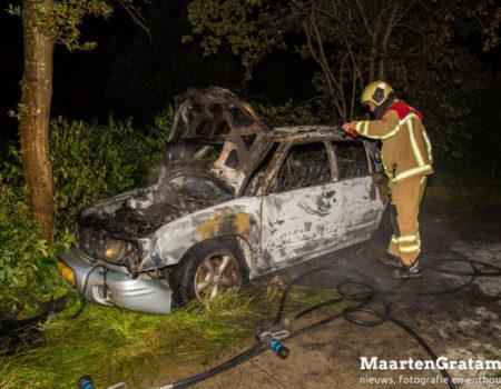 Gestolen auto uitgebrand op fietspad bij Heerde